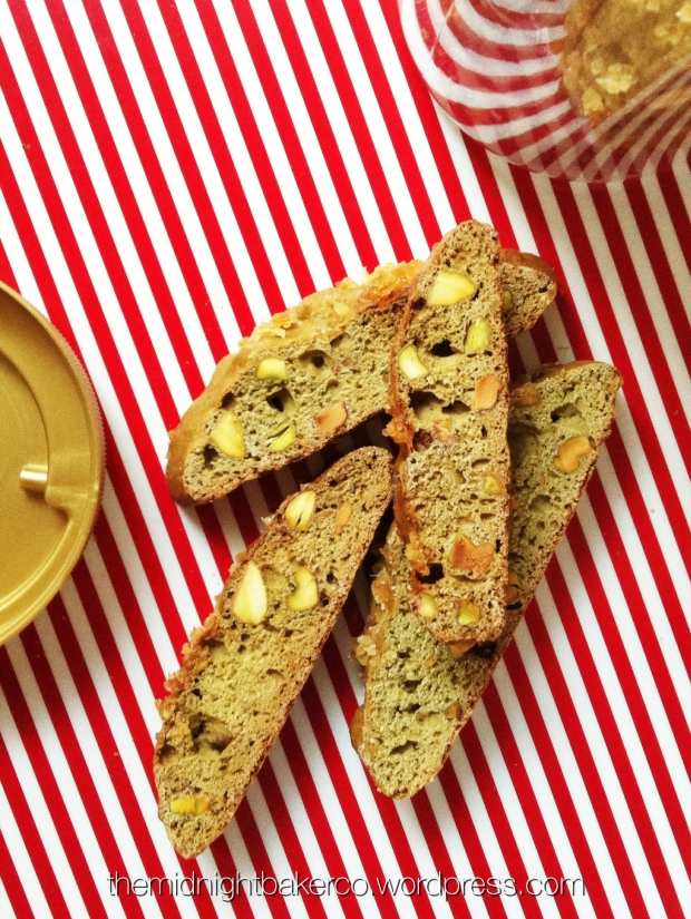 Matcha Ginger Pistachio Biscotti|Nat Yusop