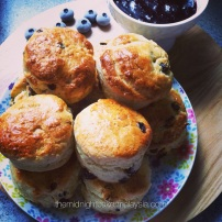Scrumptious reduced-sugar raisin scones.